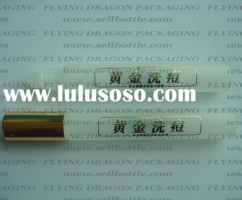 Gold printing of roll on bottle, roll on perfume bottle, cosmetic roll on bottle