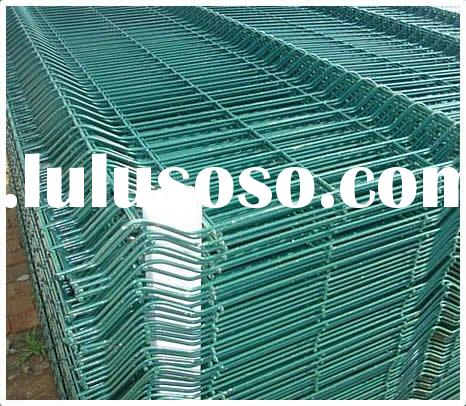 Green Metal welded wire fence panels