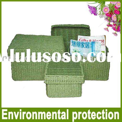 Green paper packing box