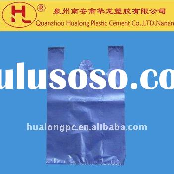 HDPE recyclable t-shirt shopping bag