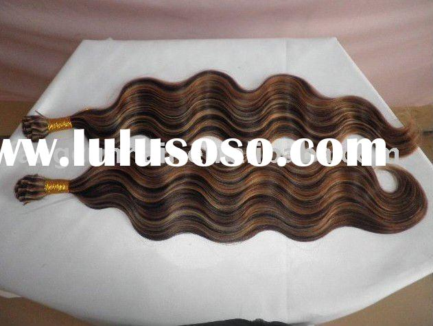 Hair extension/stick/i tip/blond color/Korea glue/Italy glue