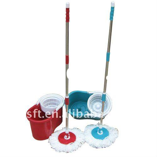 Hand Press Magic Mop/2011 new style TAIWAN PATENT hand press 360 spin and go magic mop
