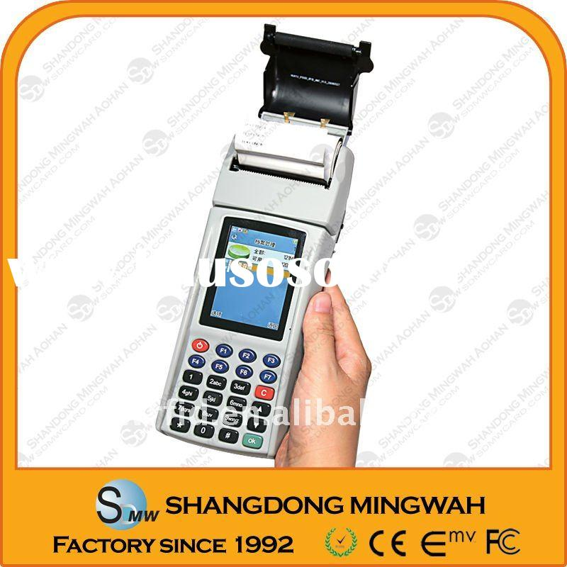 Handheld pos devices,WinCE,with GPRS,thermal printer accept credit cards payment