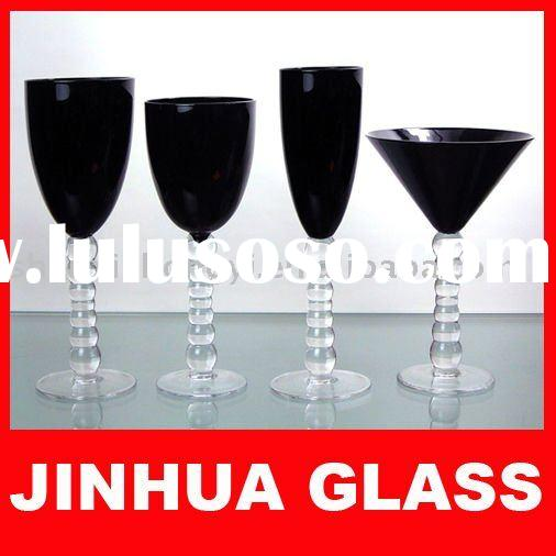 Handmade Red wine,white wine,champagne,martini glass black color