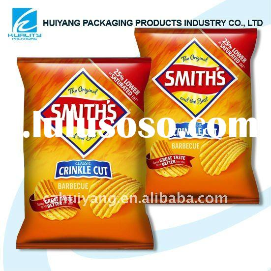 Heat seal LDPE Snack bag for Potato chip packaging