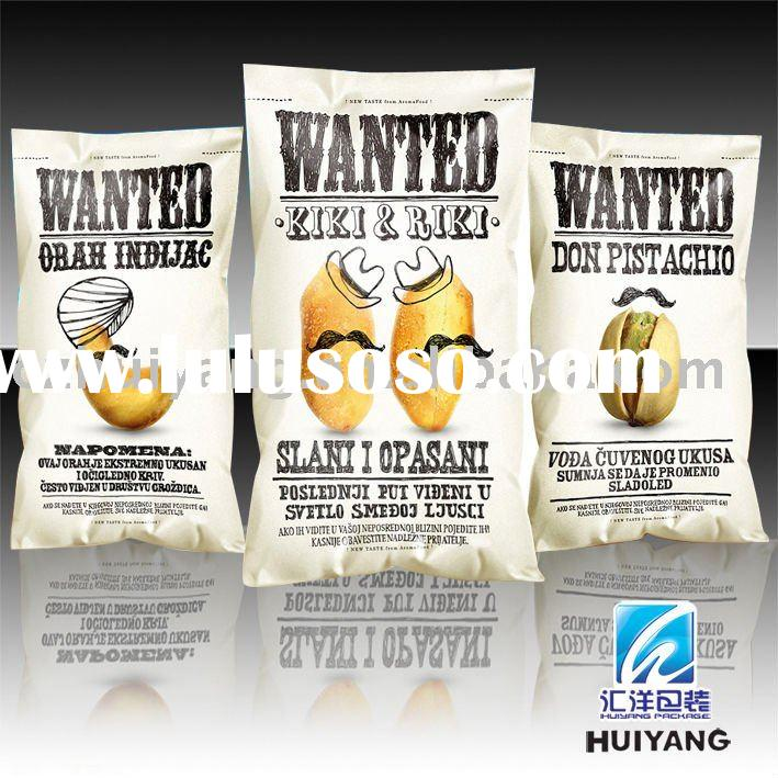 Heat seal stand up potato chips packaging bag