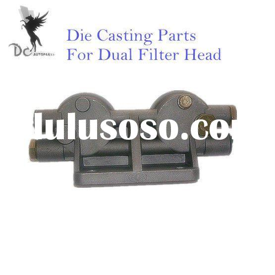 High Pressure Die Casting Components For Dual Filter Head