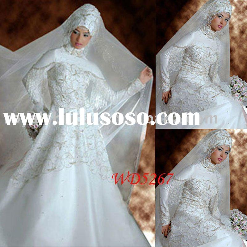 High Quality Lace Arabic Sleeves Wedding dress WD5267