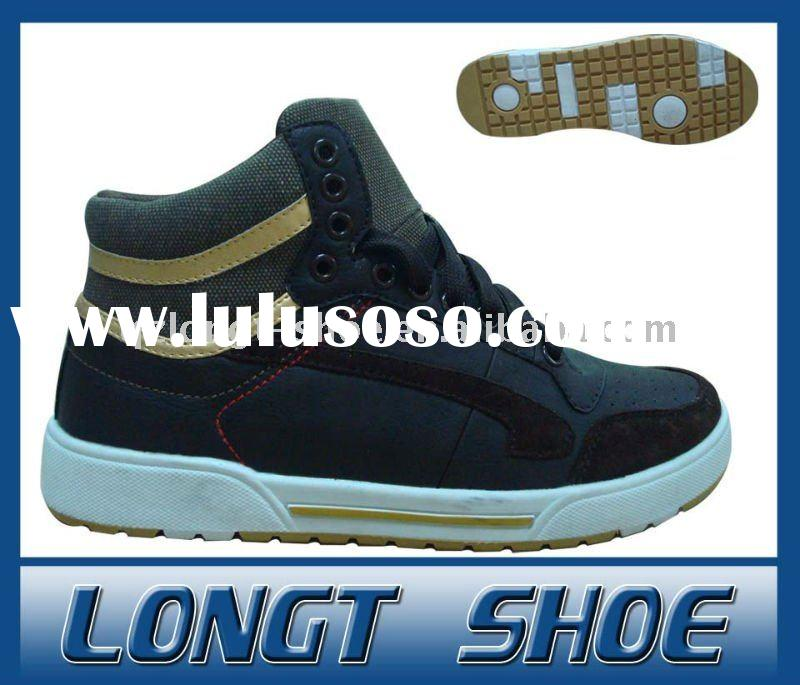 High Top Suede Skateboard Shoes For Men
