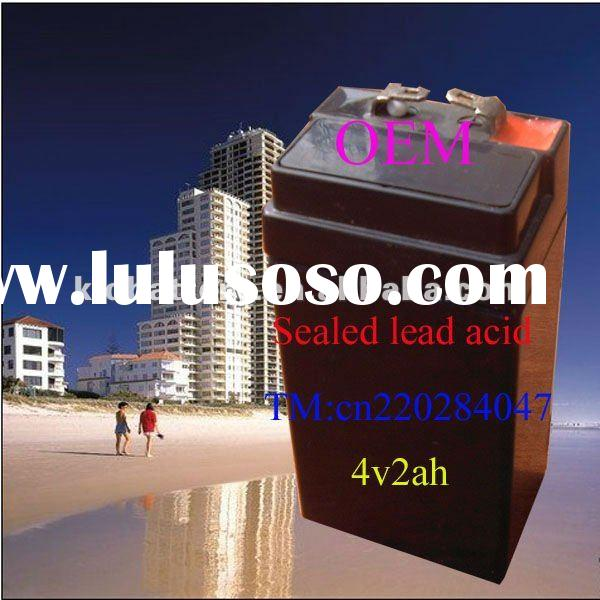 High power rechargeable lead acid storage battery 4v2ah