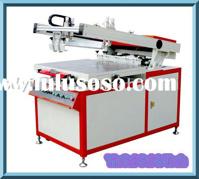High precision semi-automatic glass flatbed vertical screen printing machine
