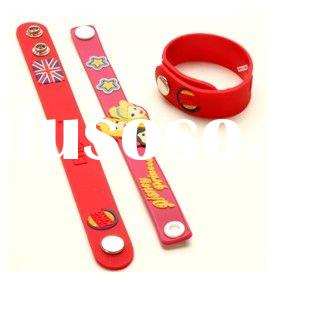 High quality Eco-friendly Material and Fashional Style promotional funny silicon wristband,silicone