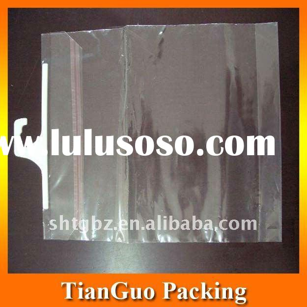 High quality clear opp hook bag for underwear packaging