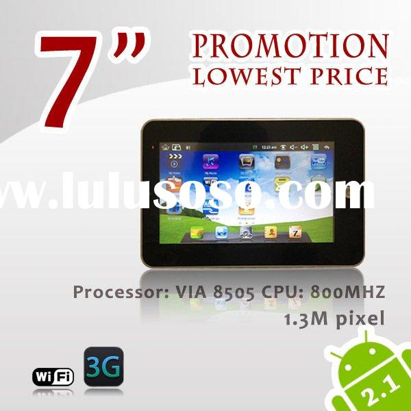 Hot! 7'' inch tablet pc resistance touch screen Hot sell 7' android tablet,8