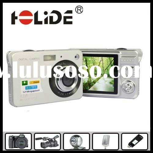 "Hot Sale Slim HD12Mega pixels cmos multifunctional digital camera digital with 2.7""TFT LCD disp"