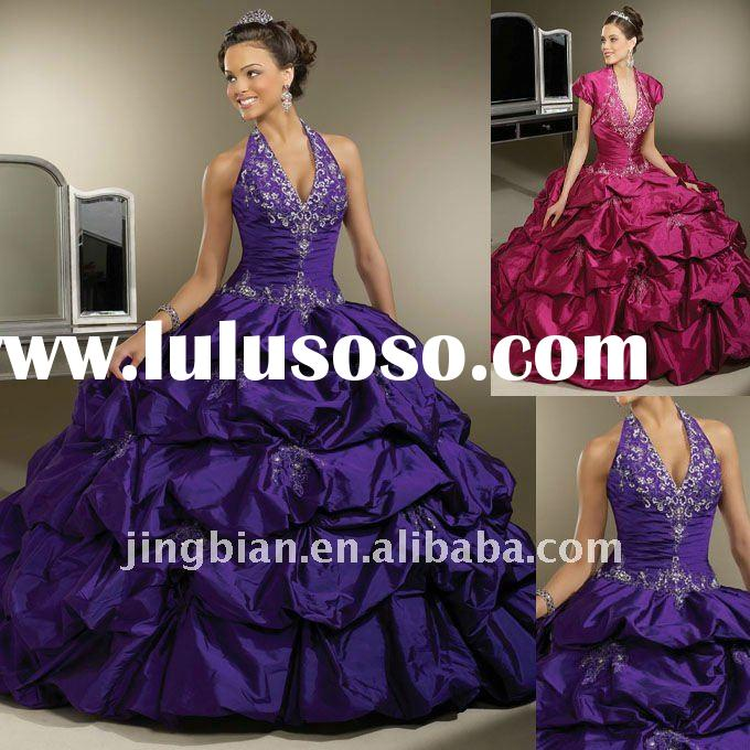 Hot Sell Long V-neck Dancing Party Ball gown for Special Occasion 2011 Fashion Prom Pageant Dress La