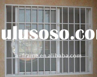 Hot sale in south America Aluminum sliding window with burglar bars