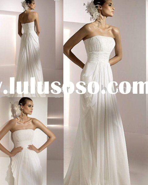 Hottest!!!2010 new-style strapless summer wedding dresses bridal gown WDY-079