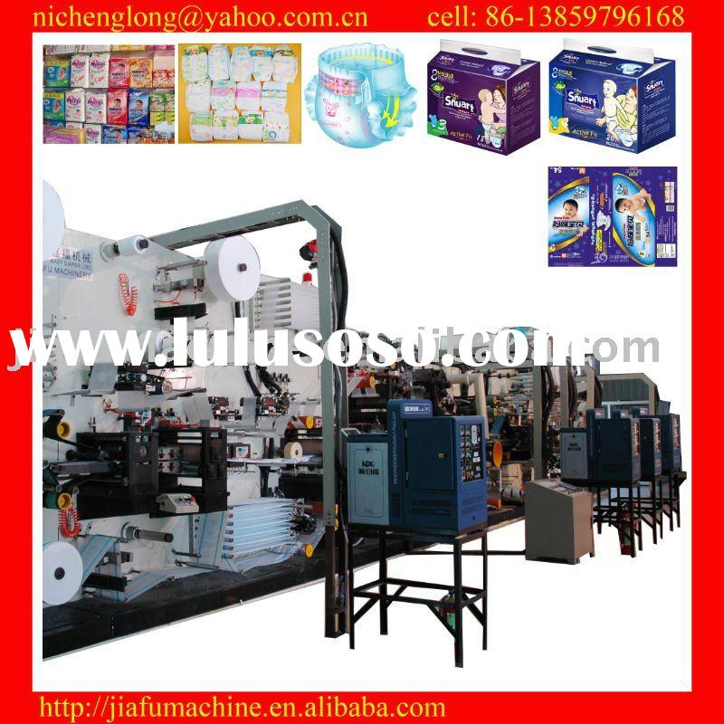 JF-NK-400 half-servo baby nappy making machine, raw materials support, high-quality diaper productio