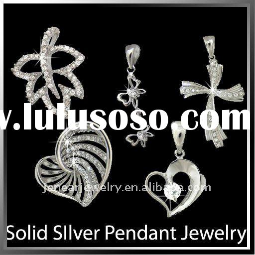 Jewellery Wholesale Solid Sterling Silver925 Jewellery Top Quality Fashion Silver Zircon jewellery C