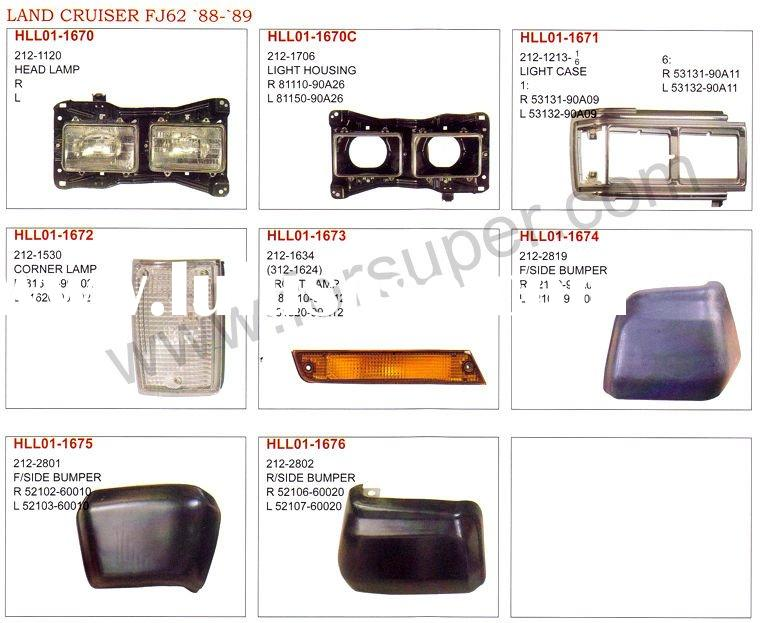 LAND CRUISER FJ62 1988-1989 auto lamps and body parts