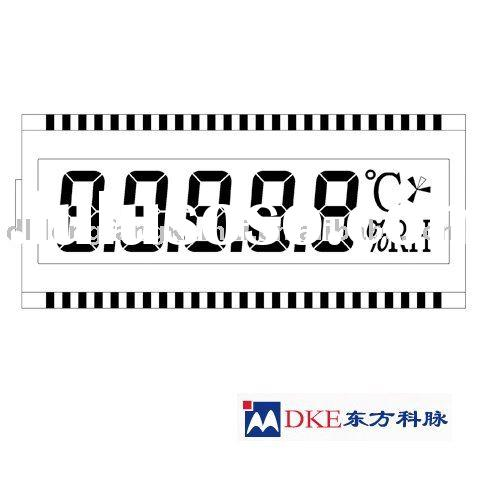 LCD display for temperature controller
