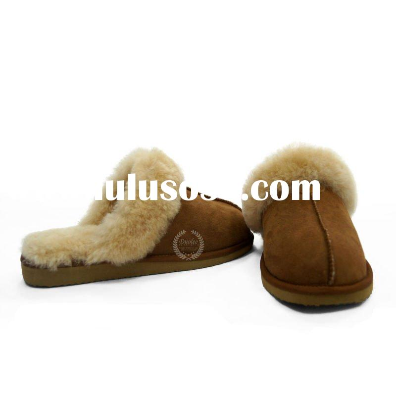 Ladies' leather slippers