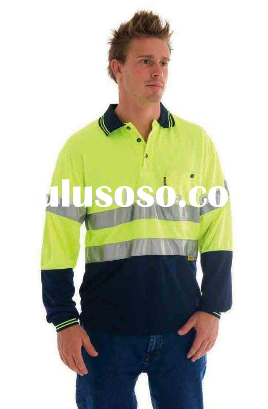 Long sleeve high visibility safety t-shirt