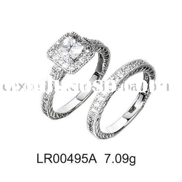 Luxurious 925 sterling silver wedding rings