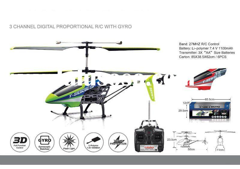 MJX T11 shuttle 3 channel remote control helicopter with gyro radio control RC toys (Red & Green