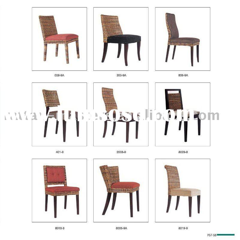 Modern fashion restaurant dining chair/rattan furniture