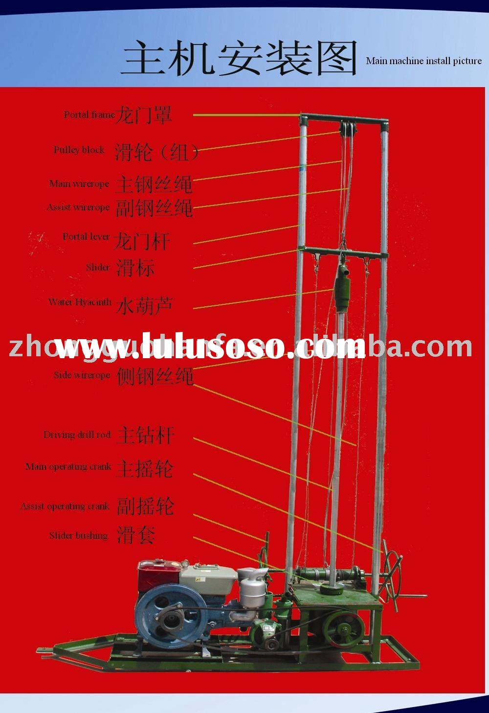 Most Economical Household Water Well Drilling Rig for Sale HF80