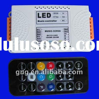 Music RGB LED lighting controller