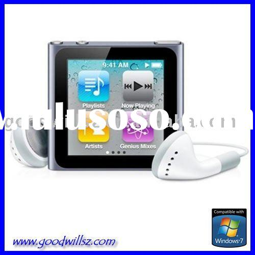 NEWEST ! 6th 1.8 inch TFT screen Clip MP4 Player with Micro SD(TF) slot FM REC