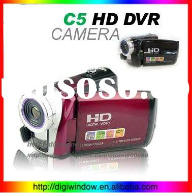 "New Arrival!! 3.0"" TFT LCD Cheap Digital Camera Video Camcorder HD C5 (Red,black,Silver color)"