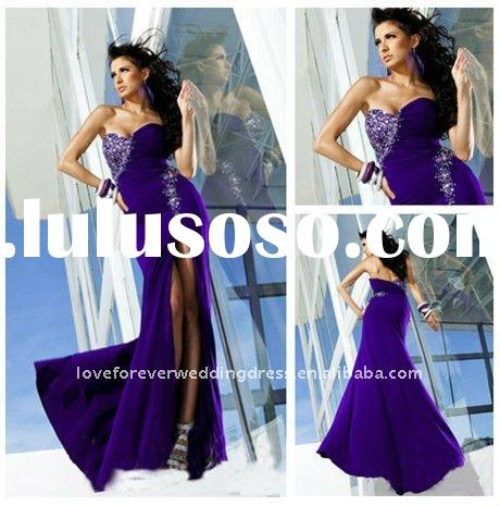 New Arrival Purple Prom Dresses Cheap Evening Gown 2012
