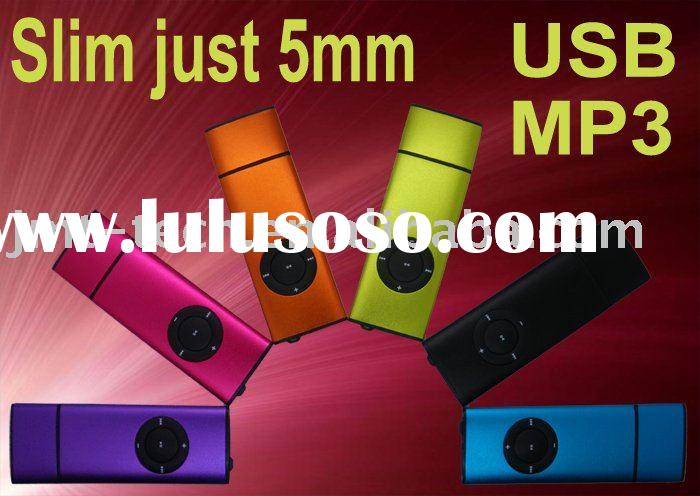 New Cheap Mini Slim Usb mp3 Portable Digital Media Audio Multimedia Electronic Music Consumer player