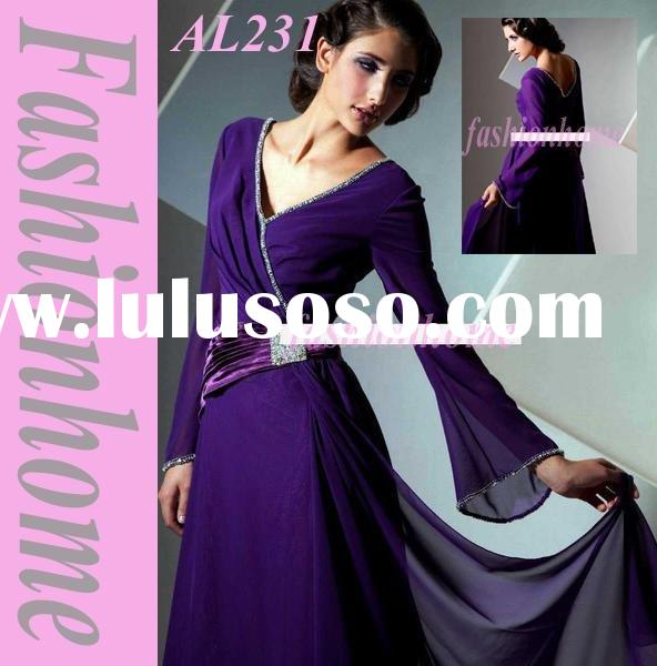 New arrival Long sleeve evening dress, formal party dress, Women occasion gown AL231