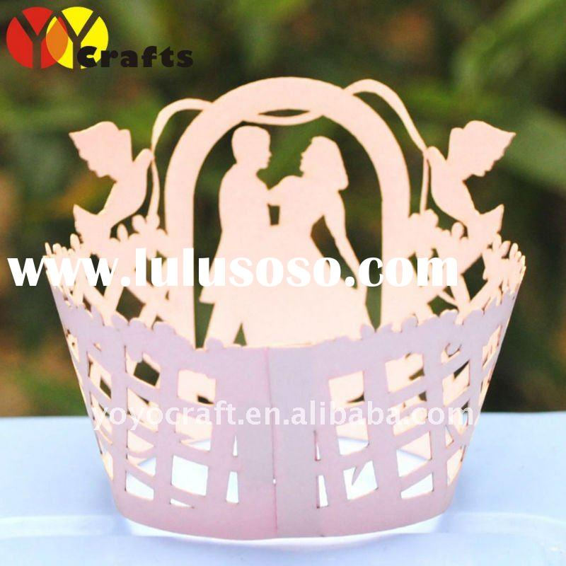 "New arrival! wedding decoration 2012 ""wedding"" cupcake wrapper wedding decoration MOQ 600p"