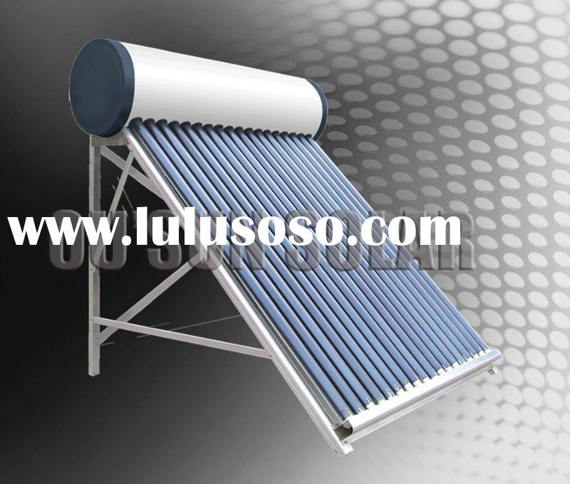 No pressure vacuum tube solar water heater