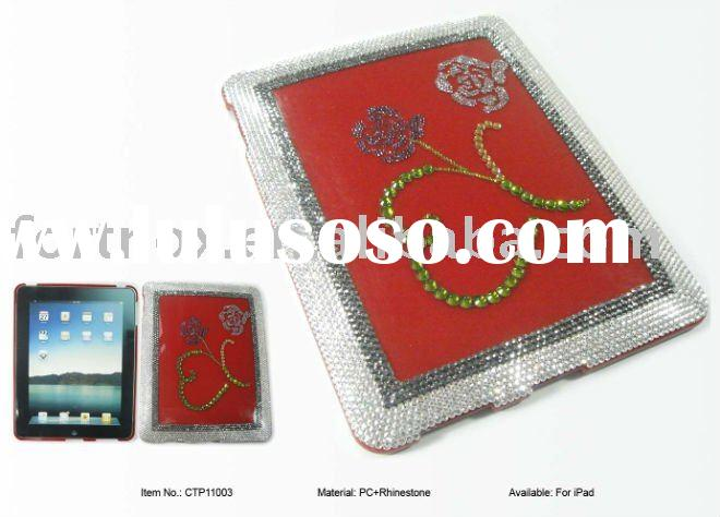 PC + Rhinestone Protective Hard Shell Cover/Case for iPad