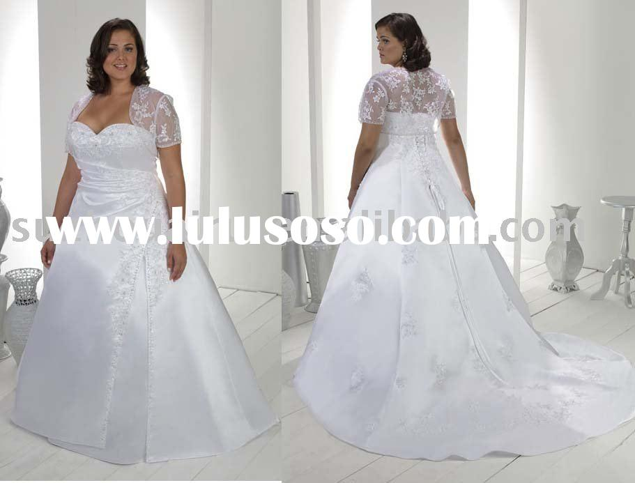 Perfect Lace Bolero Plus Size Wedding Dresses