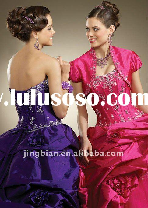 Perfect Party Dress for Special Occasion with Embroidery and Beading 2011 Femail Prom Pageant Dresse