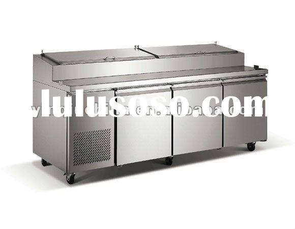 Pizza refrigerator work table with stainless steel