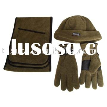 Polar Fleece Hat, Scarf and Gloves Set