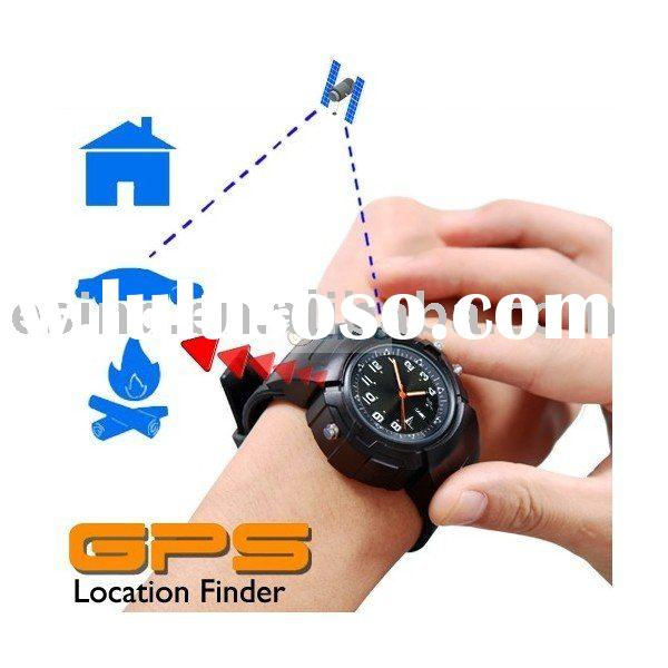Portable GPS Tracker Watch Location Finder + Data Logger + Photo Tagger