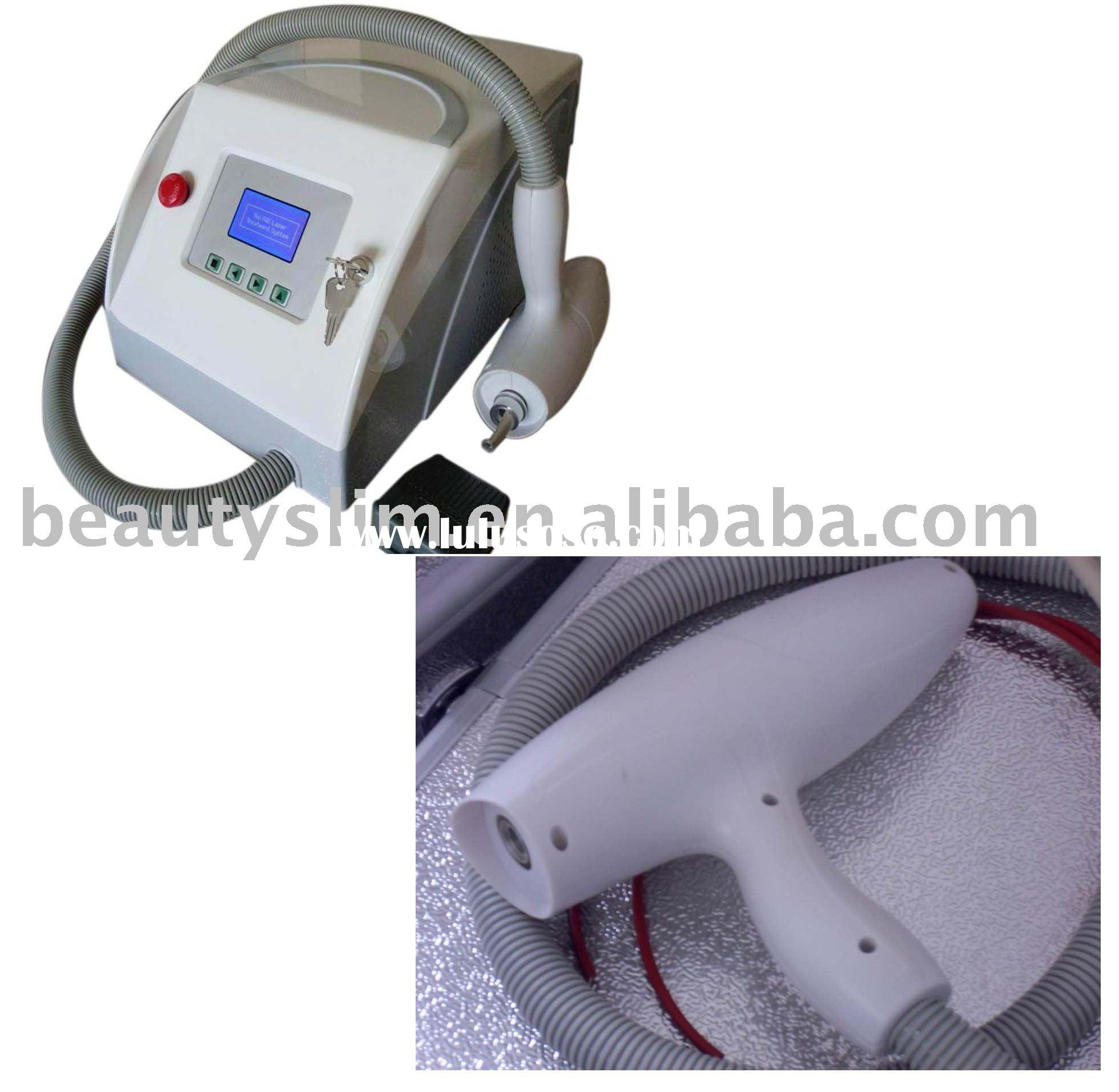 Portable Q switch ND-YAG Laser ( with ruby) tattoo removal beauty equipment- CE approved + 3 year wa