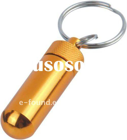Promotion metal Mini Pill Box Keychain