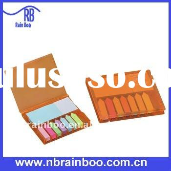 Promotional Plastic PP cover sticky note pad, memo pad