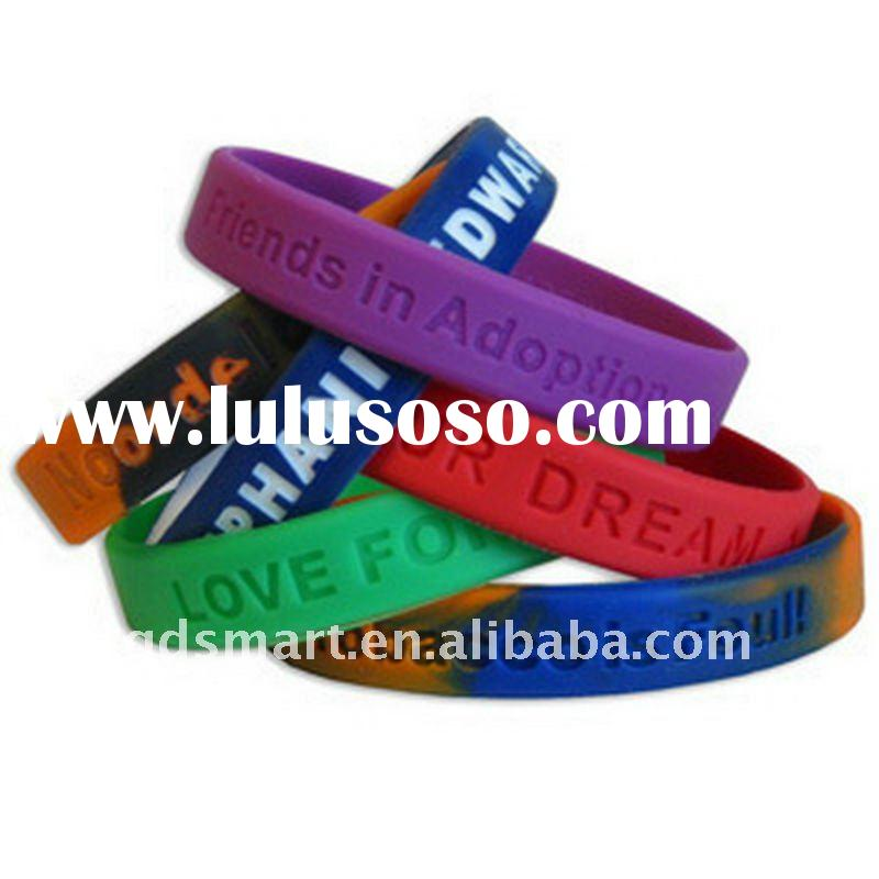 Promotional Silicone Wristbands Silicon Bracelet Rubber hand bands